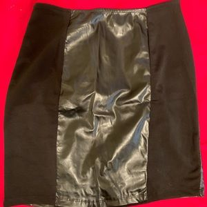 Dresses & Skirts - Black pencil faux leather skirt